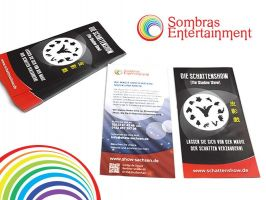 Werbeflyer Sombras Entertainment